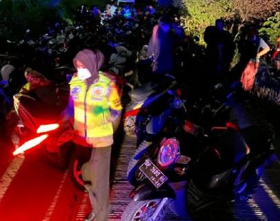 Puluhan Motor Balap Liar Jelang Sahur di Pinrang Sulsel Diamankan Polisi